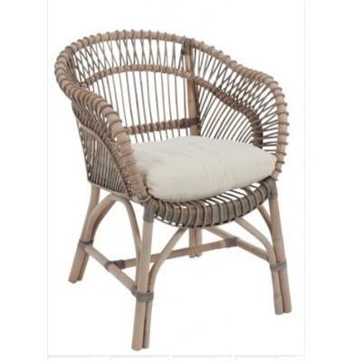 Chaise en rotin, 75*63 cm