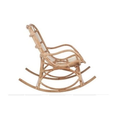 Rocking chair en rotin