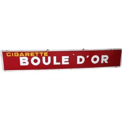 """Plaque émaillée """"Boule d'Or"""""""