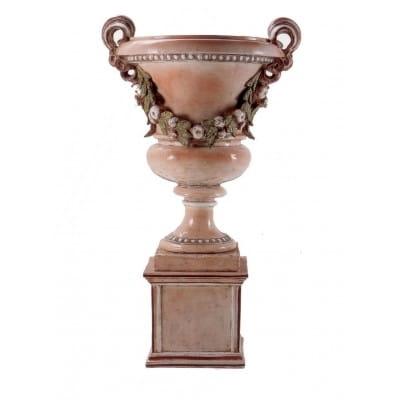 Vase d'ornement Médicis sur base