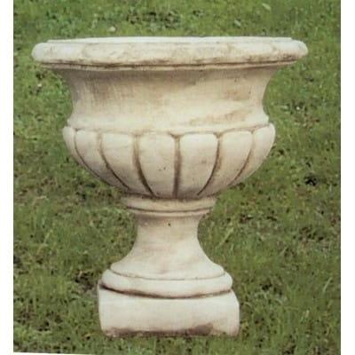 Vase à godrons en pierre reconstituée