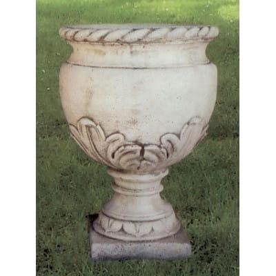 Vase feuille d'acanthe - pierre reconstituée