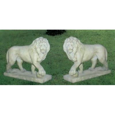 Lion - pierre reconstituée