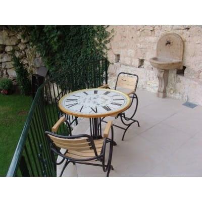 Table céramique et fer / Horloge