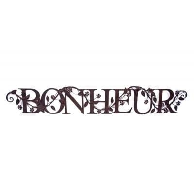 """Mot décoratif fer forgé """" Bonheur """""""