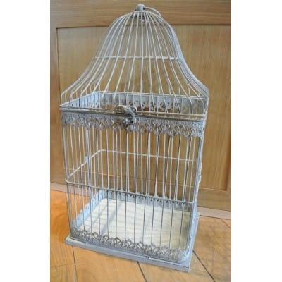 Cage en fer peint