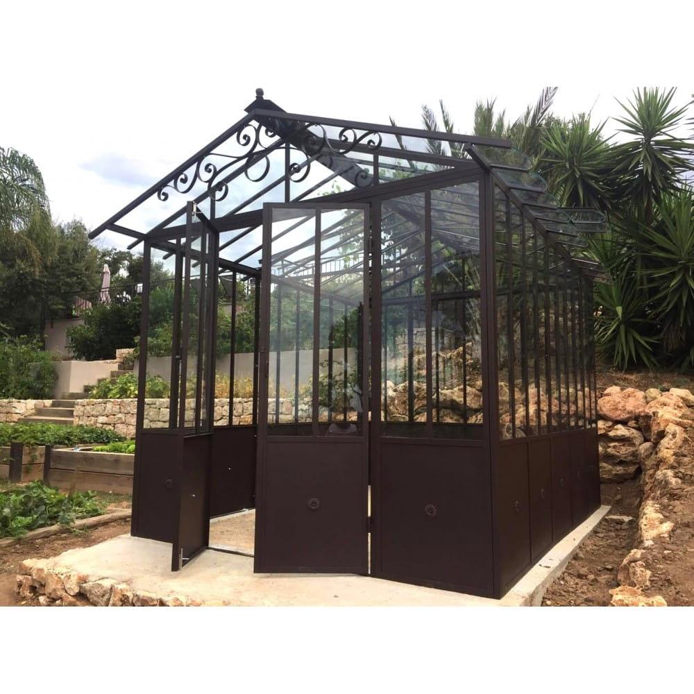 Réalisation de serre d\'hivernage modulable. Style orangeraie, jardin  d\'hiver traditionnel, créez votre espace couvert personnali