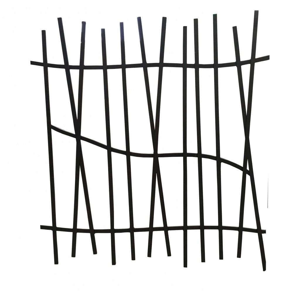 Barrière de clôture en fer forgé