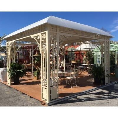 Kiosque de jardin en fer,...