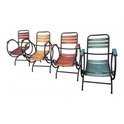 Set 4 fauteuils...