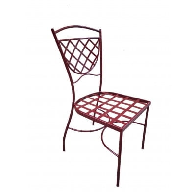 Chaise fer peint, auteur 90 cm