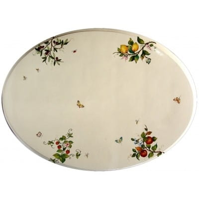 Plateau céramique ovale