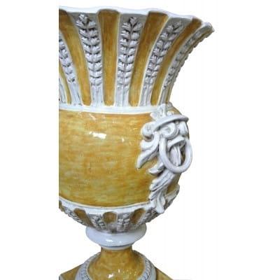 Vase vignes Jaune