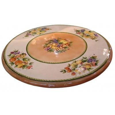 Plateau de table en céramique rond