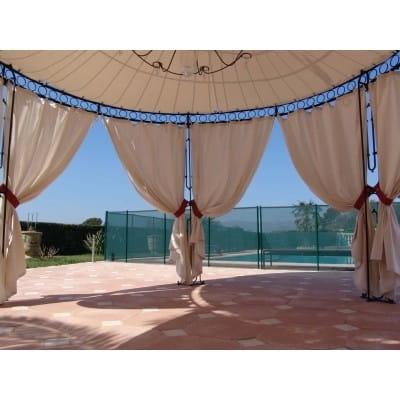 Set de rideaux pour gloriette ronde